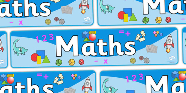 Maths Sign - Classroom Area Signs, KS1, math,  Banner, Foundation Stage Area Signs, Classroom labels, Area labels, Area Signs, Classroom Areas, Poster, Display, Numeracy, Maths, Maths signs, Foundation numeracy, problem solving reasoning and nume