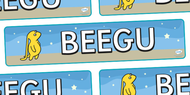 Display Banner to Support Teaching on Beegu - Beegu, Earth People, little, Alexis Deacon, display, banner, sign, poster, book, story, creature