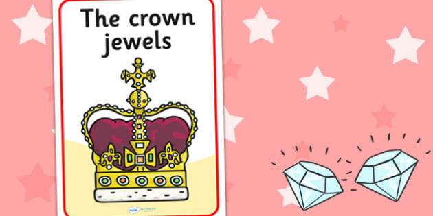 Crown Jewels Display Poster - crown, jewels, display, poster, sign, Queen, Crown Jewels, history, royal
