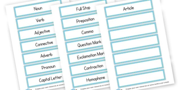 S.P.A.G. Labels - SPaG - Spelling Punctuation and Grammar, SPaG Resources, Spelling