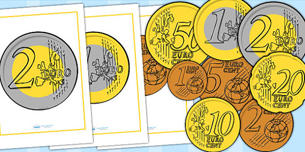 Euro Coin Display Posters - Money, coins, currency, euro, euros, cent, cents, foundation numeracy, coin, pay, shop