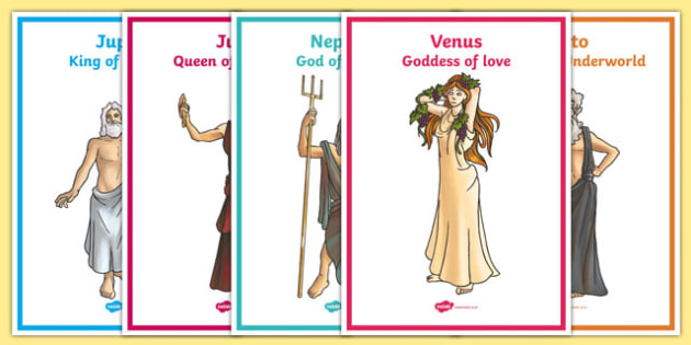 Roman Gods Display Posters - roman, gods, romans, roman gods, display, poster, sign, banner, roman empire, pluto, neptune, apollo, saturn, venus, jupiter