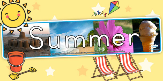 Four Seasons Photo Display Banner Summer - seasons, summer