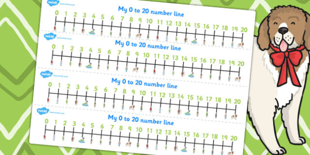 Peter Pan Number Lines 0 20 - numbers, numeracy, traditional