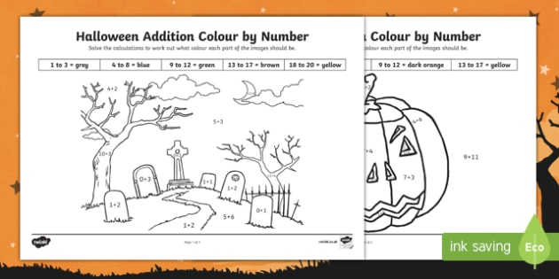 Halloween Themed addition to 20 Colour by Number