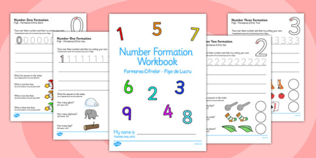 Number Formation Workbook Romanian Translation - romanian, number