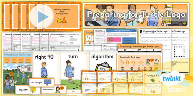 PlanIt - Computing Year 2 - Preparing For Turtle Logo Unit Pack - planit, computing, year 2