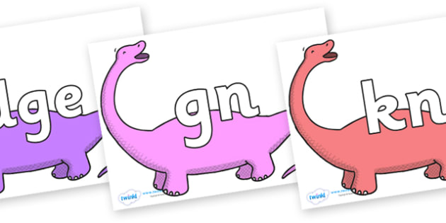 Silent Letters on Apatosaurus to Support Teaching on Harry and the Bucketful of Dinosaurs - Silent Letters, silent letter, letter blend, consonant, consonants, digraph, trigraph, A-Z letters, literacy, alphabet, letters, alternative sounds