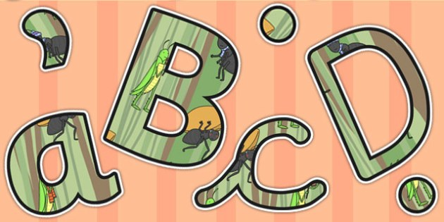 The Ant and the Grasshopper Themed Display Lettering - Lettering