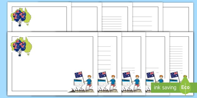Australia Day Page Borders Landscape - australia, page borders
