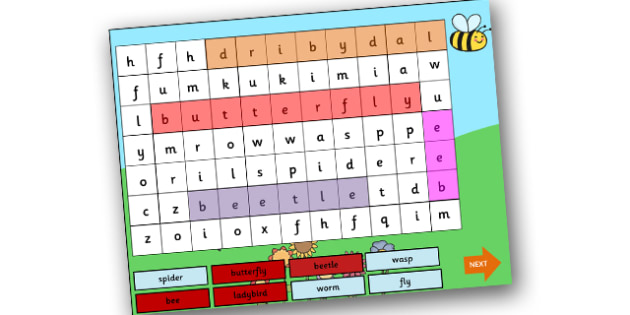 Minibeast Interactive Wordsearch PowerPoint - minibeast, interactive powerpoint, wordsearch powerpoint, powerpoint, interactive wordsearch, class discussion