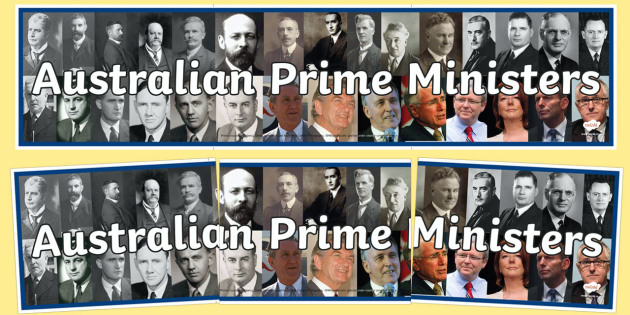Australian Prime Ministers Display Banner-Australia