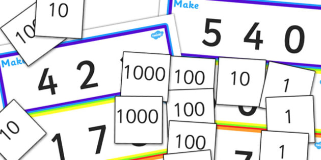 Place Value Number Building Activity - place value, place value number building, place value number cards, place value number building activity, ks2 maths