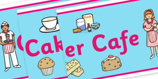 Cafe Banner - Cafe Primary Resources, cafe, role play, area, menu, signs, poster
