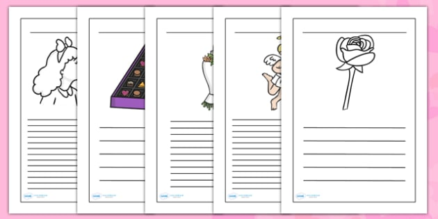 Valentines Day Writing Frames - valentines, writing, templates