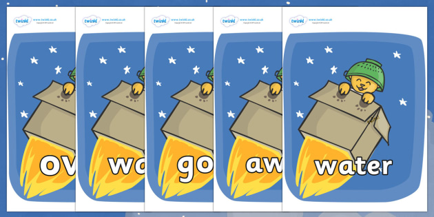Next 200 Common Words on Rockets (Whatever Next) to Support Teaching on Whatever Next! - Next 200 Common Words on  - DfES Letters and Sounds, Letters and Sounds, Letters and sounds words, Common words, 200 common words