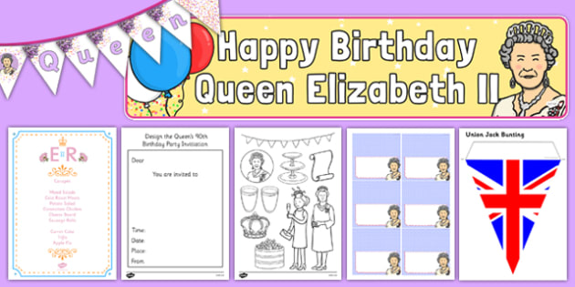 The Queen's Birthday Party Role Play Pack - queens birthday, queen, birthday, party, role play, pack