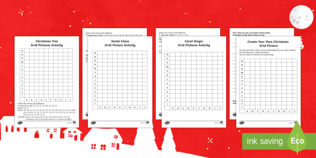Christmas Grid Pictures Activity Pack