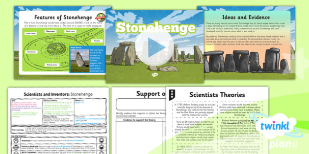 PlanIt - Science Year 5 - Scientists and Inventors Lesson 6: Stonehenge Lesson Pack - Stonehenge, theory, evidence, astronomy