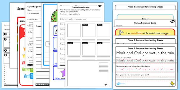 Teaching Assistant Sentence Structure Resource Pack - assistant