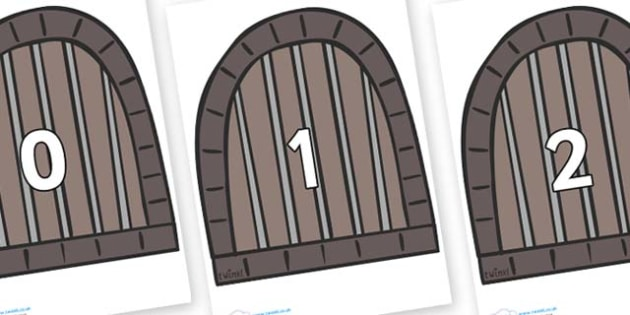 Numbers 0-50 on Jail Cells - 0-50, foundation stage numeracy, Number recognition, Number flashcards, counting, number frieze, Display numbers, number posters