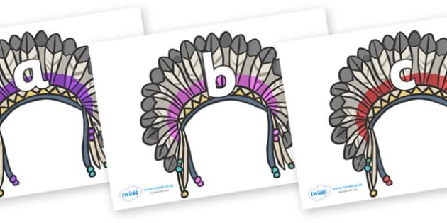 Phase 2 Phonemes on Headdresses - Phonemes, phoneme, Phase 2, Phase two, Foundation, Literacy, Letters and Sounds, DfES, display