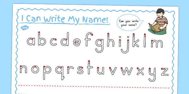 Name Writing Letter Formation Worksheet - name, writing, letters
