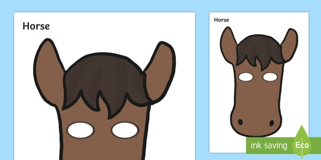 Horse Mask - horse, role play, make believe, neigh, canter, trot, gallop, walk,