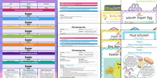 EYFS Easter Themed Bumper Planning and Resource Pack - EYFS, early years planning, adult led, continuous provision