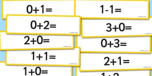 Number Bonds to 3 Sentence Cards - number bonds, 3, sentence