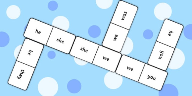 Phase 3 Tricky Words Dominoes - phase 3, tricky words, dominoes