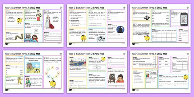 Year 3 Summer Term 2 SPaG Activity Mats