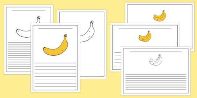 Fairtrade Fortnight Banana Themed Writing Frames - fairtrade fortnight, banana, fairtrade banana, writing frames