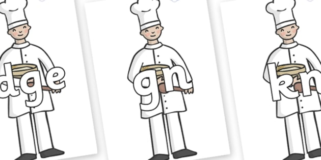 Silent Letters on Bakers - Silent Letters, silent letter, letter blend, consonant, consonants, digraph, trigraph, A-Z letters, literacy, alphabet, letters, alternative sounds