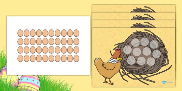 Lost Eggs Counting Game Resource Pack - EYFS, Early Years, Easter, farm, counting game