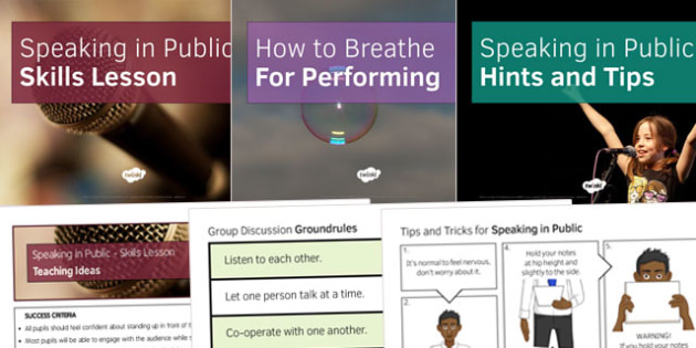 Speaking in Public Resource Pack - speaking, public, resource, pack
