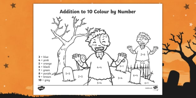 Halloween Themed addition to 10 Colour by Number