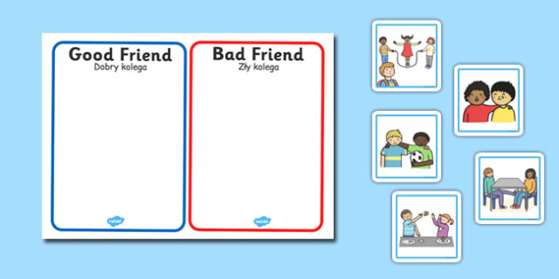 Good Friend Discussion and Sorting Cards Polish Translation - polish, good friend, discussion, sorting