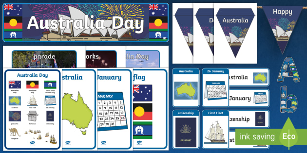 Australia Day Display Pack - australia, day, display pack, pack