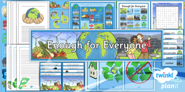 PlanIt - Geography Year 5 - Enough for Everyone Unit Additional Resources - planit, geography, year 5, enough for everyone, additional resources