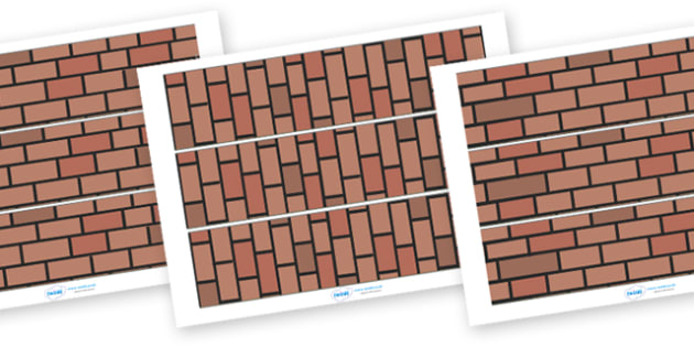 Materials Display Border (Brick Wall) - materials, science, display border border, classroom border,investigation, material properties, shiny, dull, rough, smooth, bumpy, wood, plastic, glass, stone, transparent