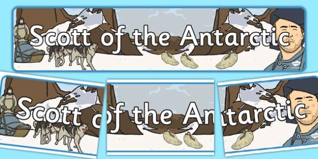Scott of the Antarctic Display Banner - display, banner, scott