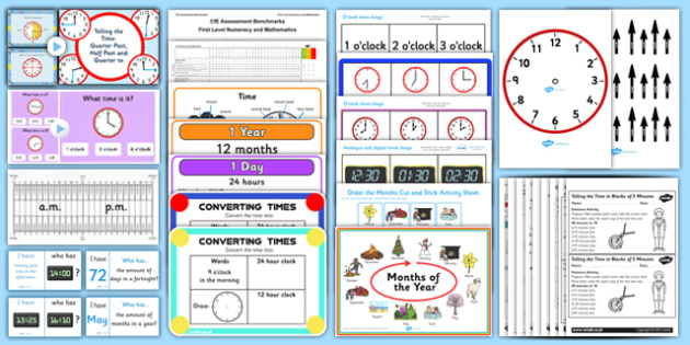 CfE Numeracy and Mathematics – First Level – Number, Money and Measure - Time  Resource Pack-Australia