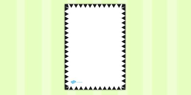 Black Zig Zag Page Border - black, zig zag, page border, border