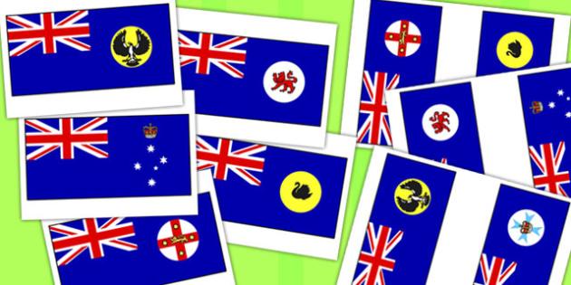 Australian States Flag Pack - australia, states, flag, pack