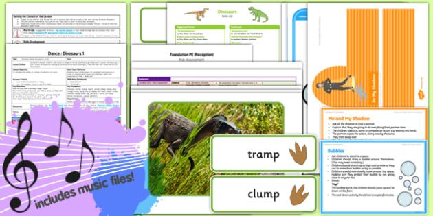 Foundation PE (Reception) - Dance - Dinosaurs Lesson Pack 1: Dinosaur Movers - EYFS, PE, Physical Development, Planning