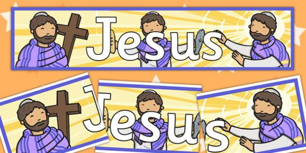 Jesus Display Banner - jesus, display, banner, christianity