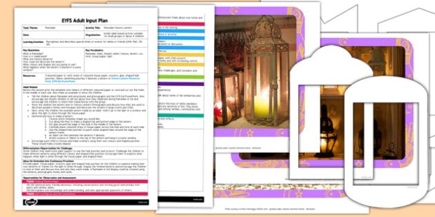 Ramadan Fanoos Lantern EYFS Adult Input Plan and Resource Pack