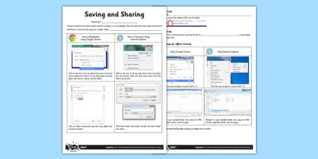 Saving and Sharing - saving and sharing, save, share, computing, ict, lesson, activity