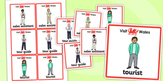 Wales Tourist Information Role Play Badges - roleplay, badges